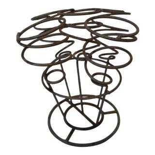 Spiral Gray Metal Wine Rack Holder