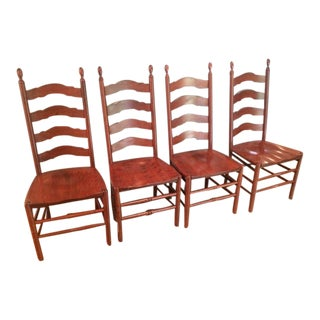 Solid Wood Ladderback Chairs - Set of 4