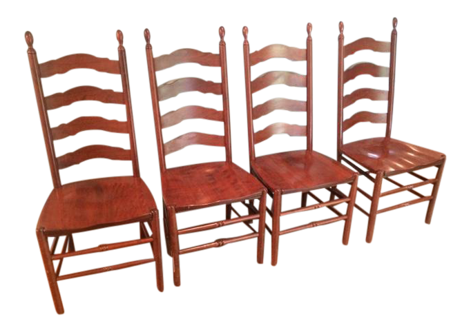 Solid Wood Ladderback Chairs   Set Of 4