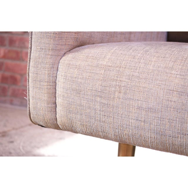 Edward Wormley for Dunbar Sofa With Brass Feet For Sale - Image 10 of 13