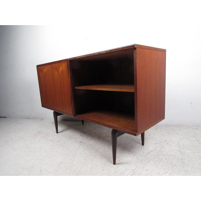 Compact Scandinavian Modern Teak Cabinet For Sale - Image 4 of 13