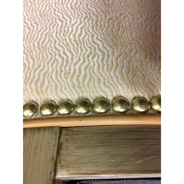 Custom Ordered Leather Nailhead Armchairs - Set of 6 - Image 10 of 11