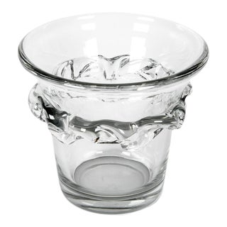 Large French Daum Ice Bucket For Sale