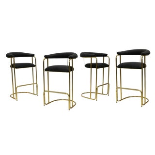 Stylish Set of Vintage Modern Barstools For Sale