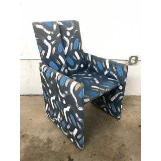 Set of Four Milo Baughman Postmodern Slab Side Dining Room Chairs Preview