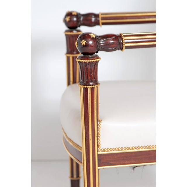 French Empire Fauteuil by Ébéniste Jacob-Desmalter, Circa 1820 For Sale - Image 4 of 9