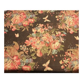 Ralph Lauren Bannerman Chestnut Floral Fabric - 15 Yards
