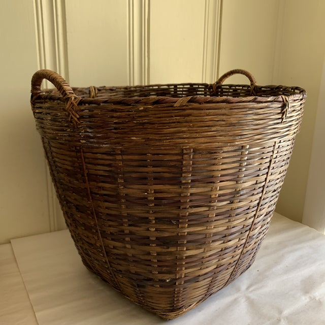 Brown Earthy Wood Rustic Decor & Storage Basket For Sale - Image 8 of 9