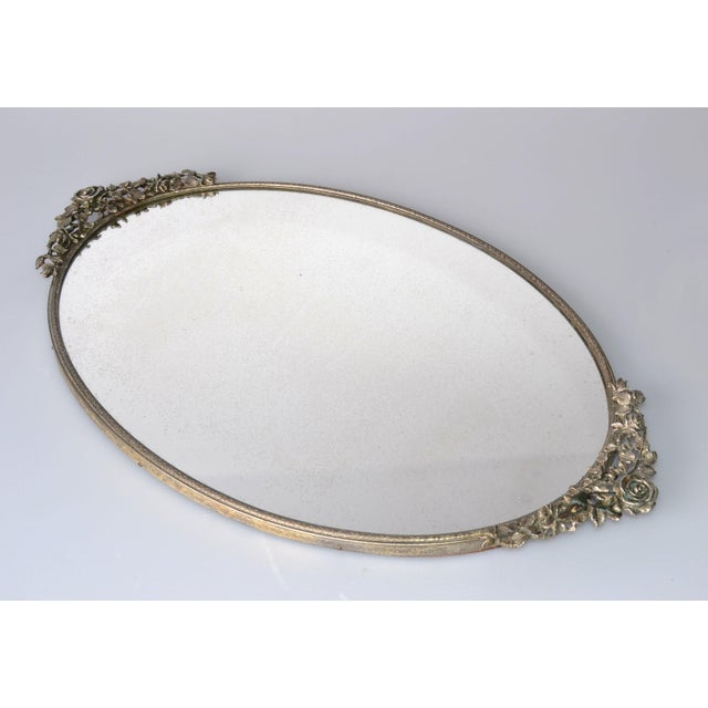 Art Deco Pewter Mirrored Tray - Image 2 of 9