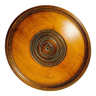 Asian Hand Carved Wooden Platter For Sale