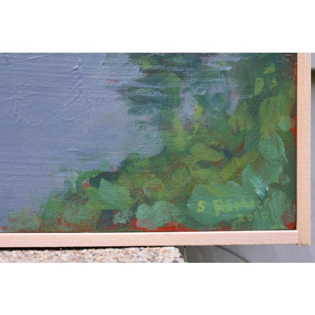 """Stephen Remick """"Inlet With Fog"""" Contemporary Plein Air Painting by Stephen Remick For Sale - Image 4 of 8"""