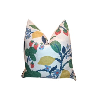 Madcap Cottage Crewel Cherry & Lemon Print Pillow