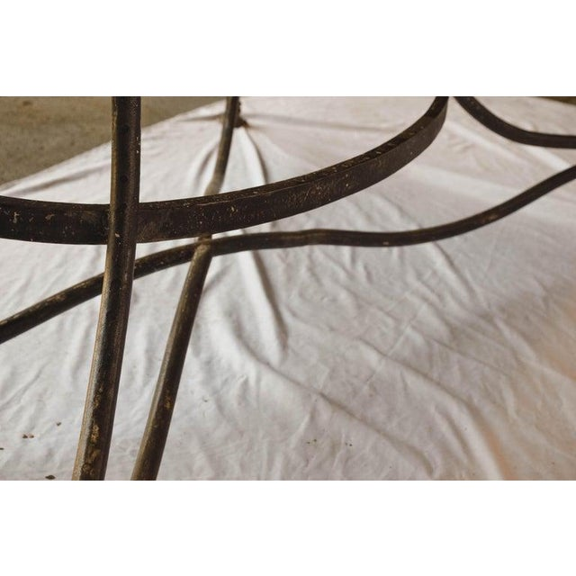 Large French Wrought Iron Garden Table From Arras With Rectangular Top For Sale - Image 10 of 13