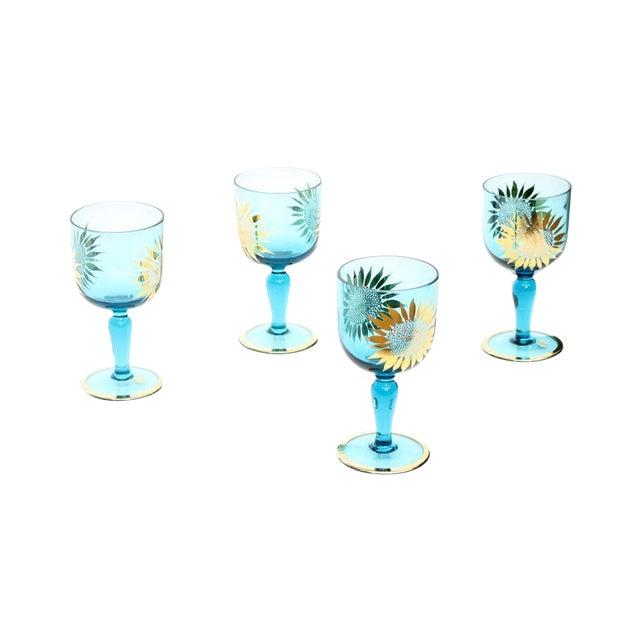 Vintage Sunflower Glasses - Set of 4 - Image 1 of 8
