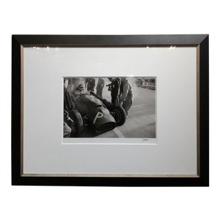 Juan Manuel Fangio, Ferrari, Gp Monaco,1956 -Silver Gelatin by Jesse Alexander-Signed