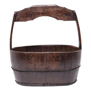 19th Century Chinese Burden Bucket For Sale