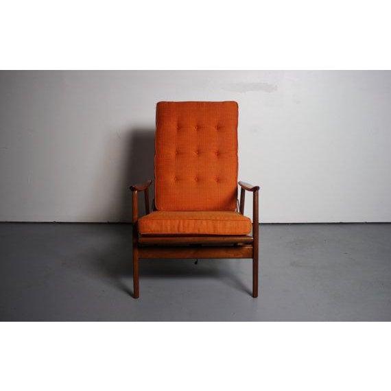 Danish Modern Danish Modern Walnut Lounge Chair & Ottoman For Sale - Image 3 of 6