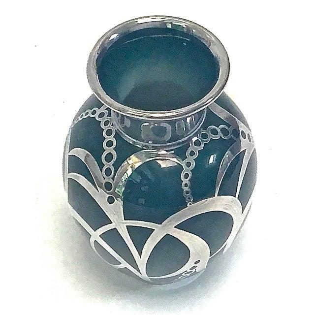 Art Deco Haviland Green & Silver Porcelain Vase - Image 6 of 9
