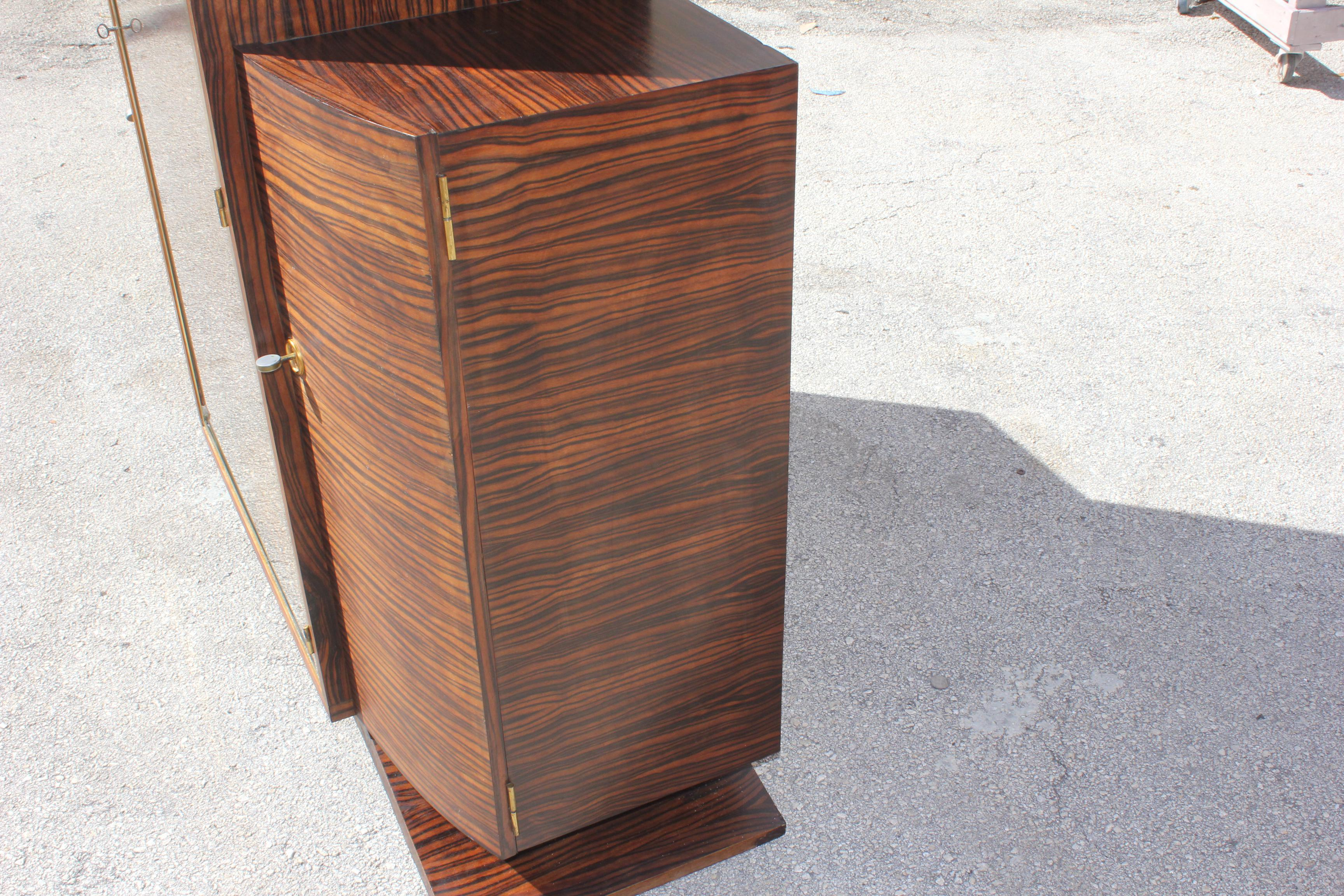 French Art Deco Macassar Ebony China Cabinet Circa 1940s   Image 5 Of 10