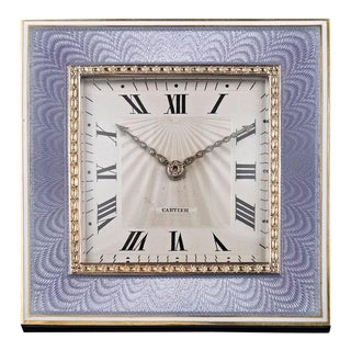 Art Deco Desk Clock by Cartier For Sale