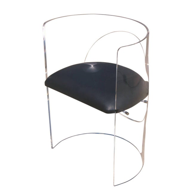 Mid-Century Modern Charles Hollis Jones 1960s Style Designed Lucite Chair For Sale - Image 3 of 8