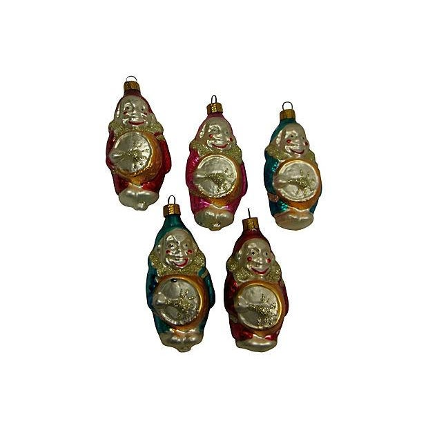 German Clown Christmas Ornaments - Set of 5 - Image 6 of 6