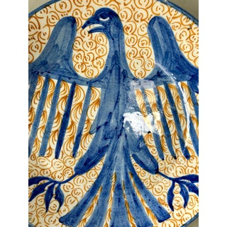 Vintage Spanish Pottery Eagle Charger Preview