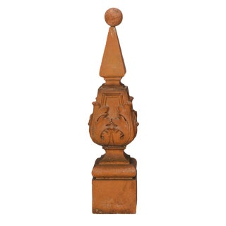 1900 Tall Terra Cotta Finial For Sale
