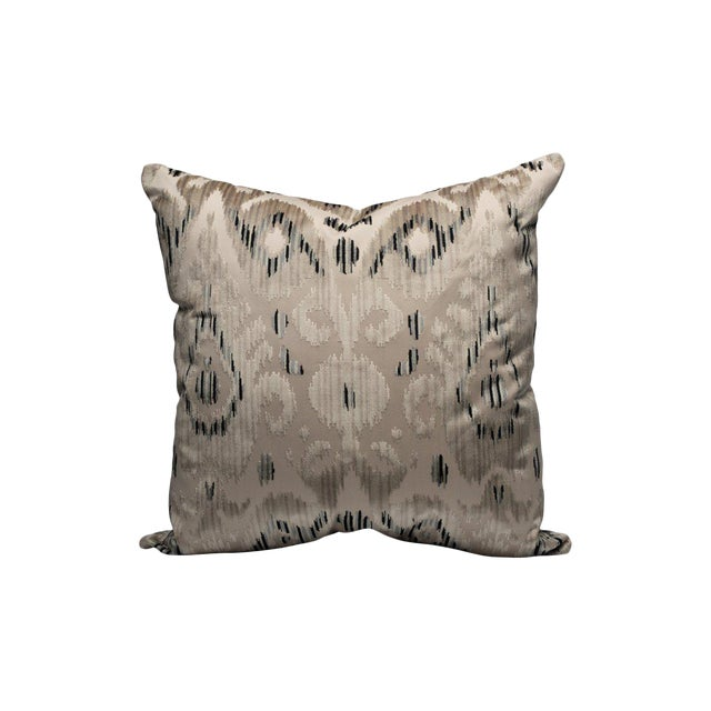 Tashkent Velvet Pillow, Smoke For Sale