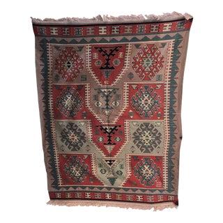 Vintage Wool Rug For Sale