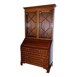 George III Style Mahogany Secretary Bookcase