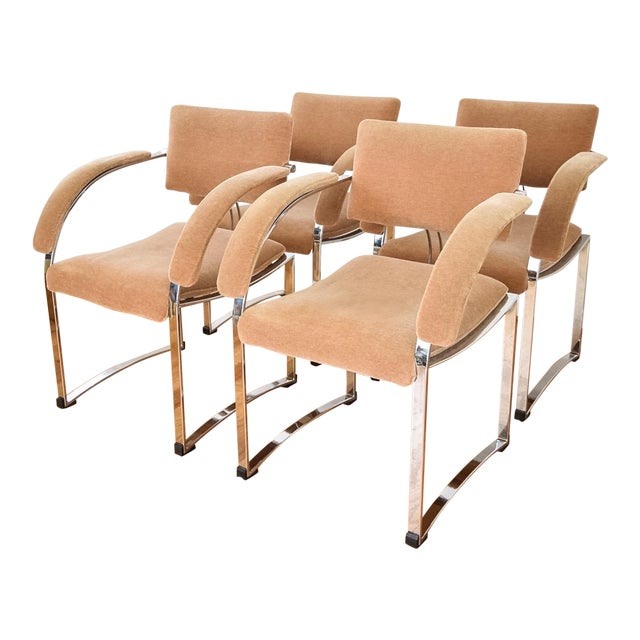 Vintage Giovanni Offredi for Saporiti Italia Dining Chairs - Set of 4 - Image 1 of 6