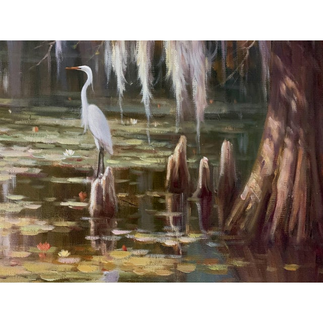 Louisiana Swamp Oil Painting For Sale - Image 4 of 8