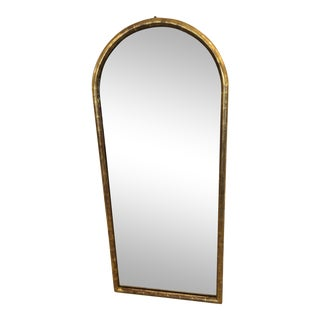 19th Century Antique Water Giltwood Arch Shaped Mirror For Sale