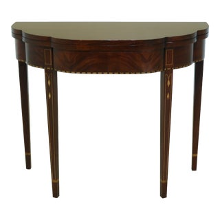 Henkel Harris Federal Style Mahogany Myers Game Table For Sale