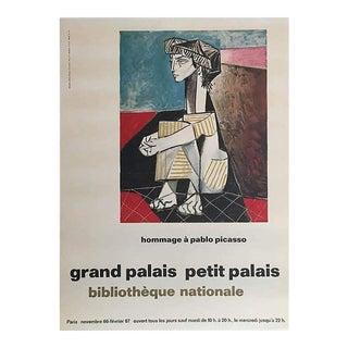Picasso Pablo Exhibition Grand Palais Petit Palais Poster, 1967 For Sale