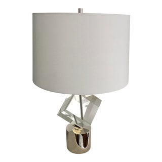 John-Richard Collection Crystal Cube Table Lamp For Sale