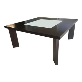 Minimalist Caligaris Square Dining Table and Bench For Sale