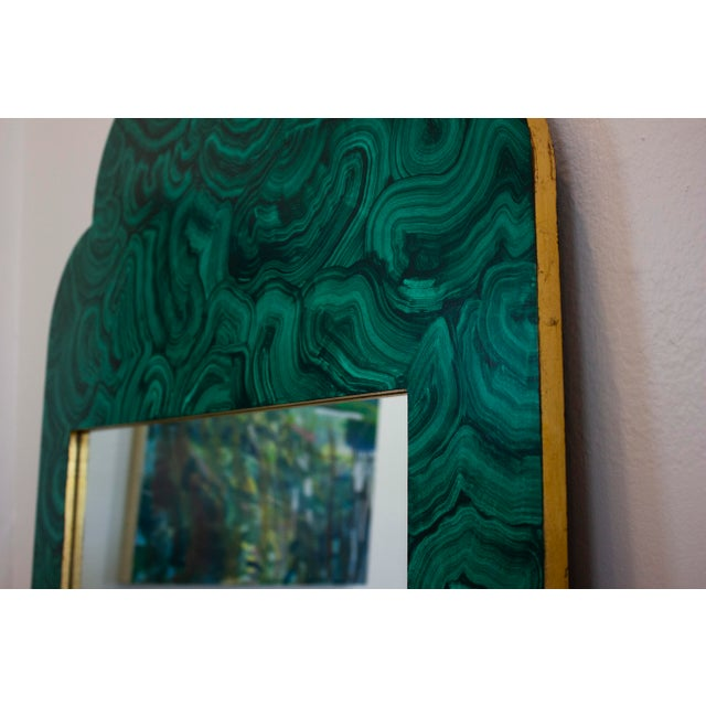 Green Malachite Wall Mirror For Sale - Image 12 of 13