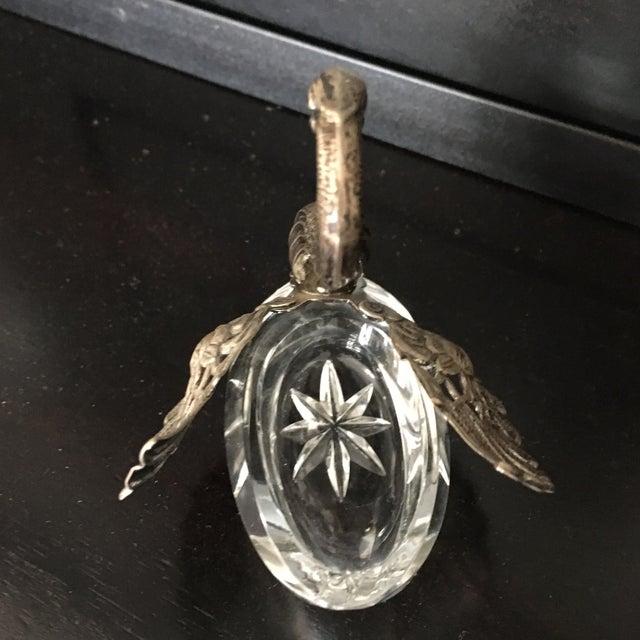 German Sterling Silver & Crystal Open Salt For Sale - Image 9 of 11