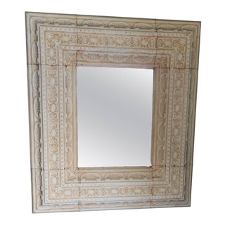 Large Decorative Tin Mirror For Sale