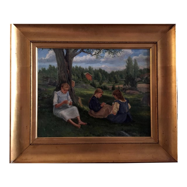 19th Century Swedish Painting by Bror Tycho Ödberg For Sale - Image 12 of 12