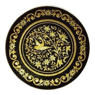Spanish Damascene Bird & Floral Pin Dish
