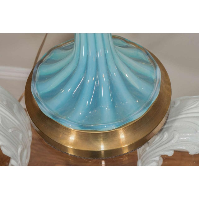 Blue Murano Glass Lamp For Sale In New York - Image 6 of 8