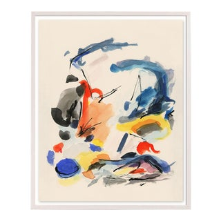 "Abstract Colorful Print With Primary Colors - Unframed Giclée on Watercolor Paper - 23"" X 31"" For Sale"