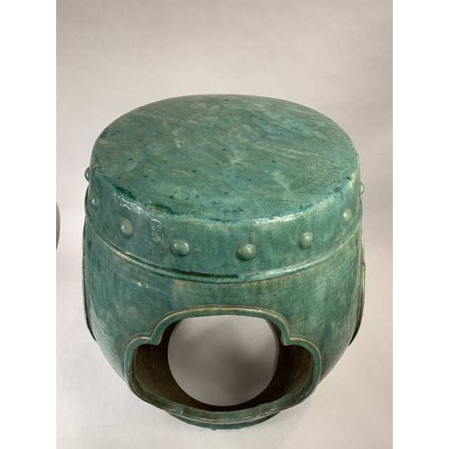 Ceramic Vintage Chinese Garden Side Table For Sale - Image 7 of 7