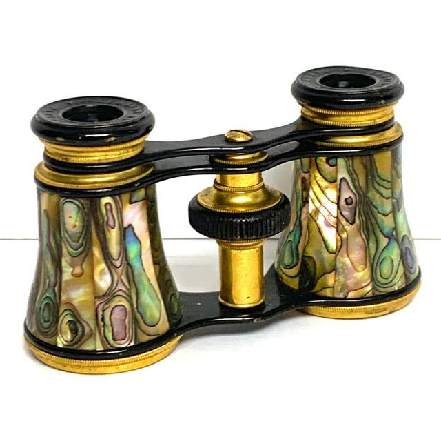 Napoleon III abalone and gilt bronze opera glasses, Paris Fine and exotic, more than likely made for a gentleman. Older...