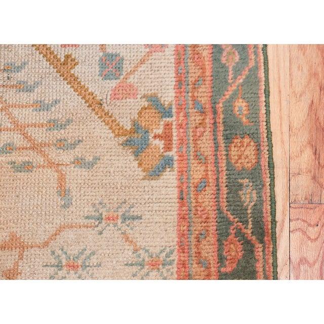 Islamic Antique Decorative Turkish Oushak Rug - 3′7″ × 6′7″ For Sale - Image 3 of 11