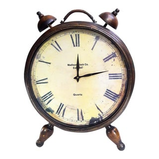 "Very Large 25"" Rustic Alarm Clock Decor For Sale"