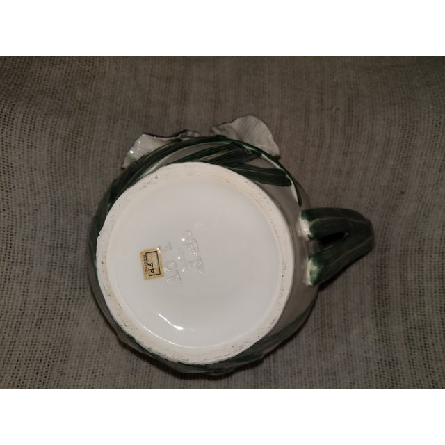 Vintage Fitz & Floyd Ceramic Iris Pitcher For Sale In New York - Image 6 of 7